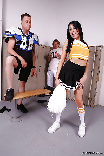 Naughty cheerleader with..