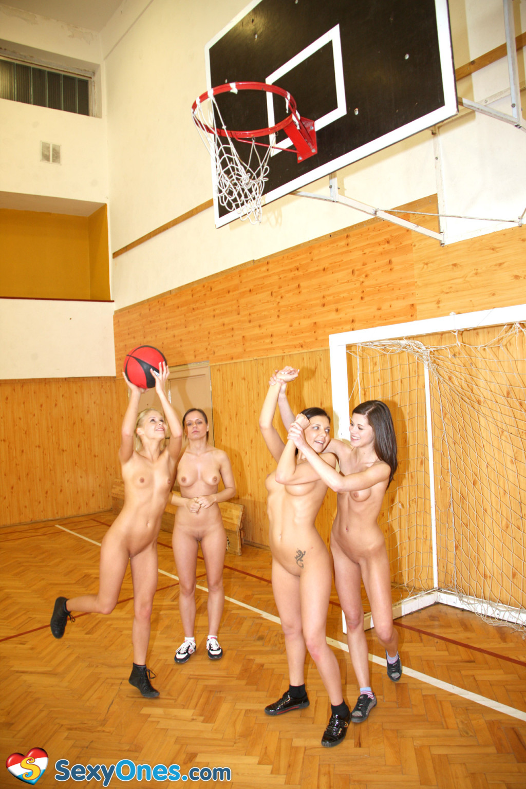 Schoolgirls playing..