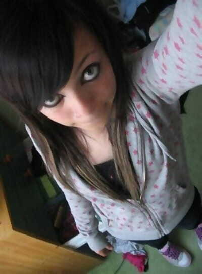Self-shots of emo teens..